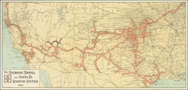 15-United States, Texas, Plains, Southwest, Rocky Mountains and California Map By M. B. Brown Prin