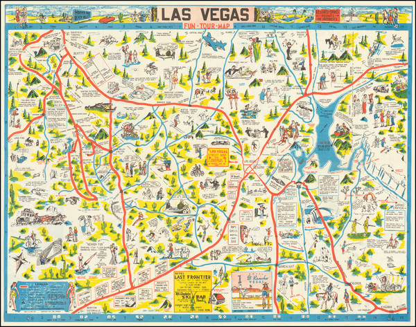 22-Nevada and Pictorial Maps Map By George Ramsey