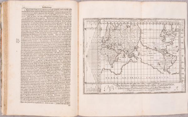 86-World and Rare Books Map By Johann Christoph Weigel / Johann Gabriele Doppelmayr / Eberhard Wel