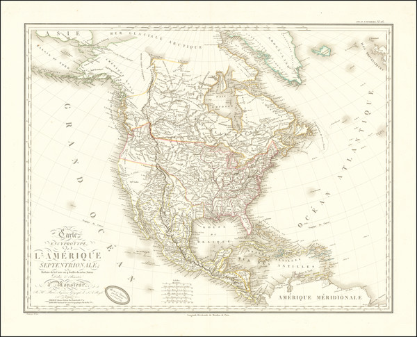 91-North America Map By Adrien-Hubert Brué