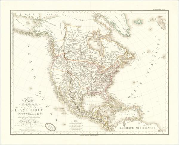 30-North America Map By Adrien-Hubert Brué
