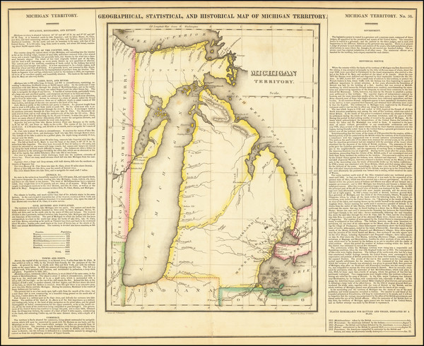 53-Michigan Map By Henry Charles Carey  &  Isaac Lea