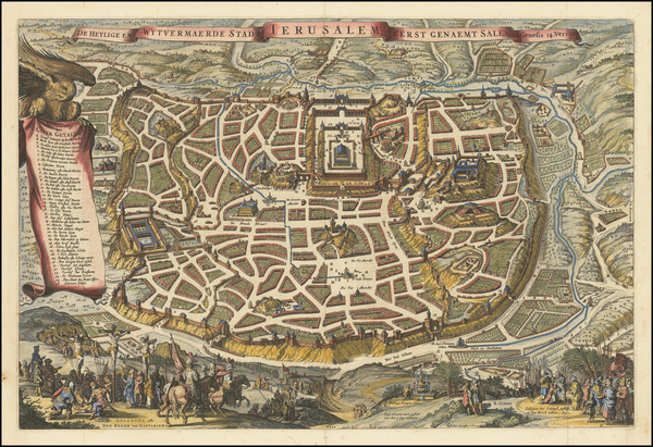 70-Jerusalem Map By Nicolaes Visscher I