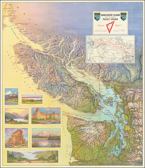 40-Washington and Western Canada Map By Canadian Pacific