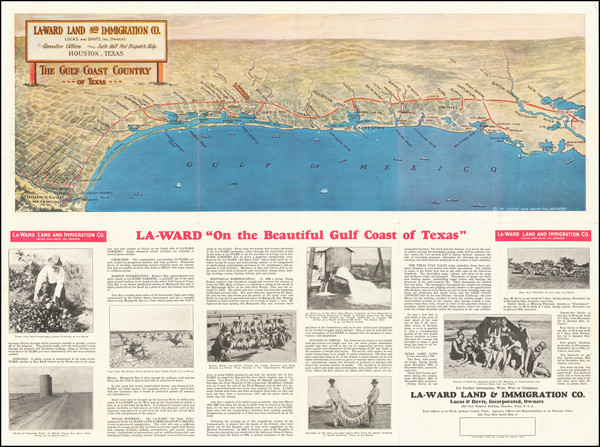 72-Texas and Pictorial Maps Map By Lucas and Davis Inc.