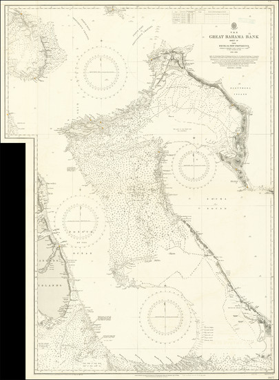 41-Bahamas Map By Admiralty War Staff Intelligence Division