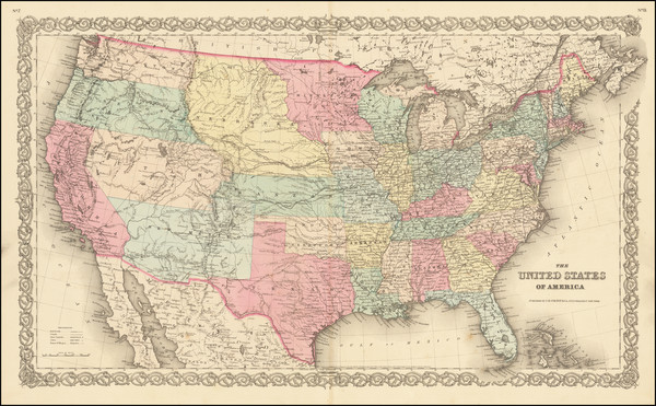31-United States Map By Joseph Hutchins Colton