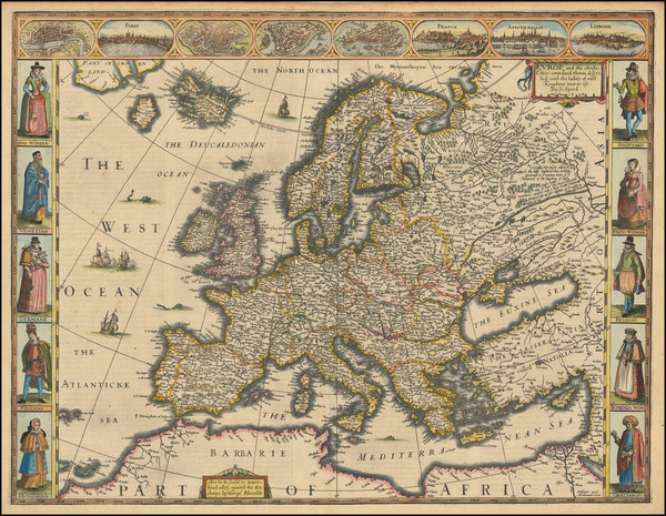 3-Europe and Europe Map By John Speed