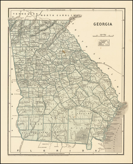 14-Georgia Map By Sidney Morse  &  Samuel Breese