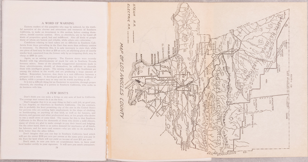 4-Los Angeles and Rare Books Map By Harry Ellington Brook