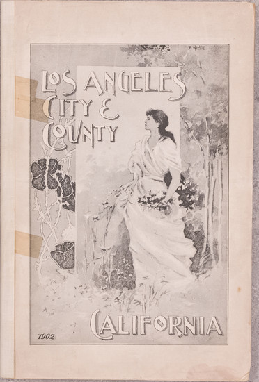 21-Los Angeles and Rare Books Map By Harry Ellington Brook