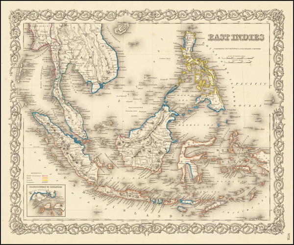 94-Philippines, Singapore and Indonesia Map By G.W.  & C.B. Colton