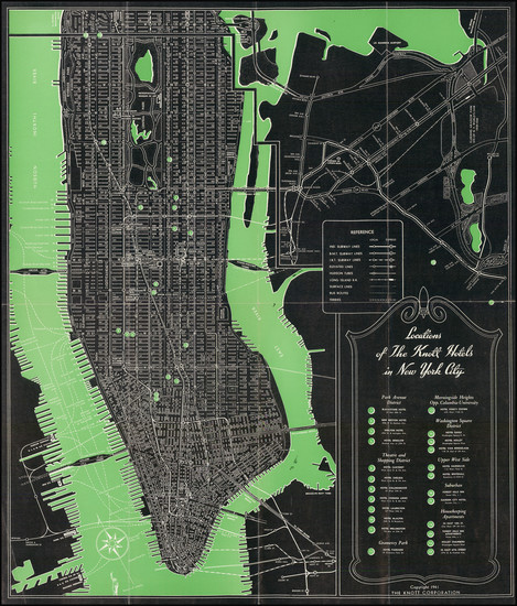 70-New York City Map By The Knott Corporation