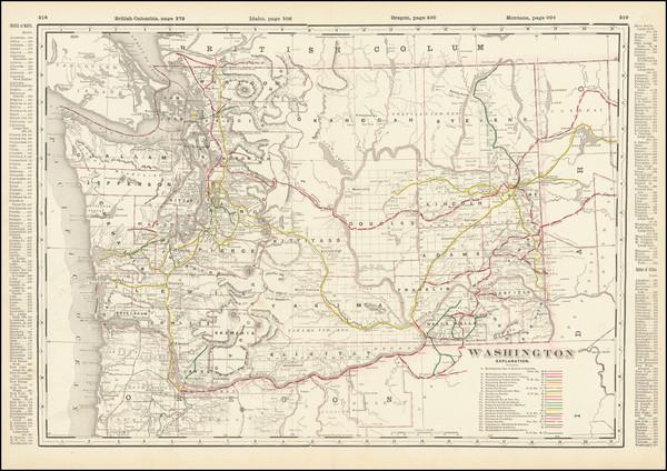 45-Washington Map By George F. Cram