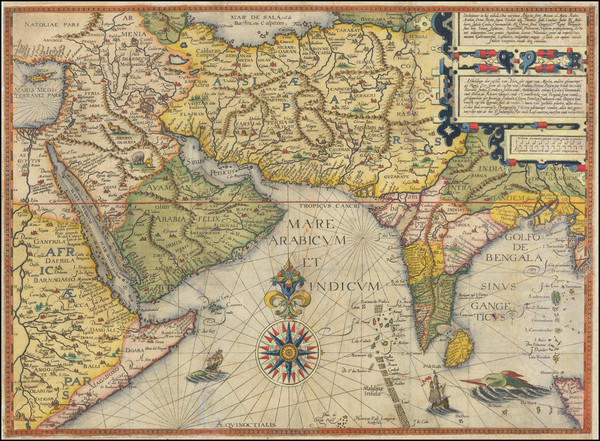 92-Indian Ocean, India, Central Asia & Caucasus, Middle East and Arabian Peninsula Map By Jan