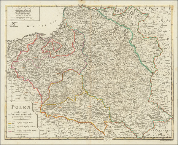 54-Poland Map By Johann Walch