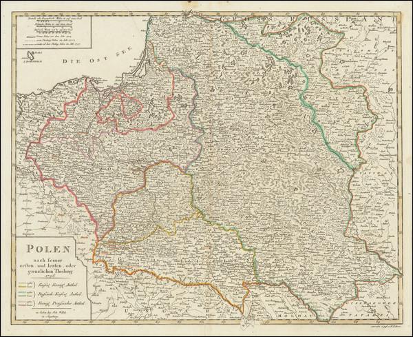 67-Poland Map By Johann Walch