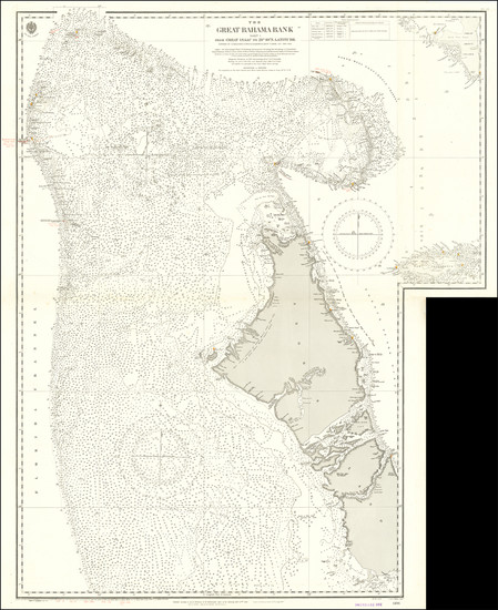 77-Bahamas Map By British Admiralty