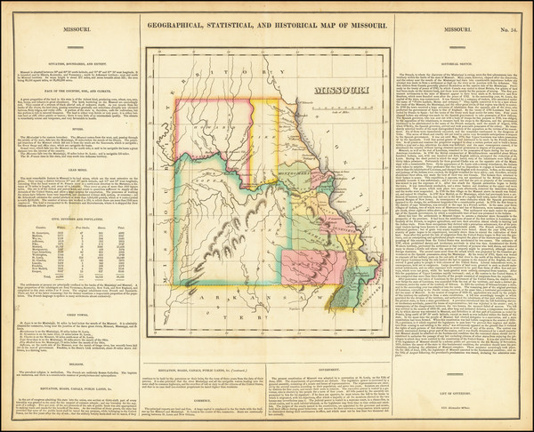 87-Missouri Map By Henry Charles Carey  &  Isaac Lea