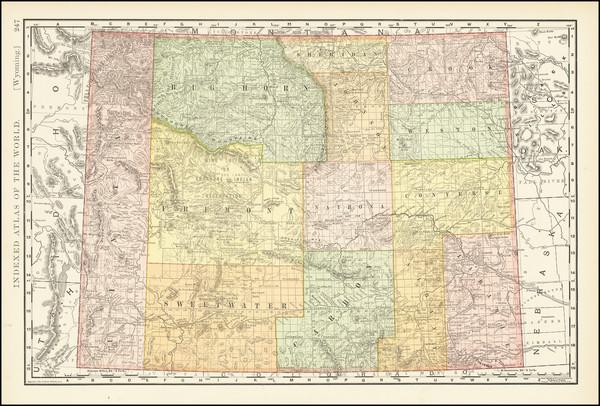 61-Wyoming Map By Rand McNally & Company
