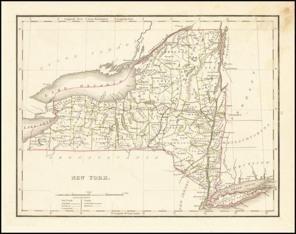 12-New York State Map By Thomas Gamaliel Bradford