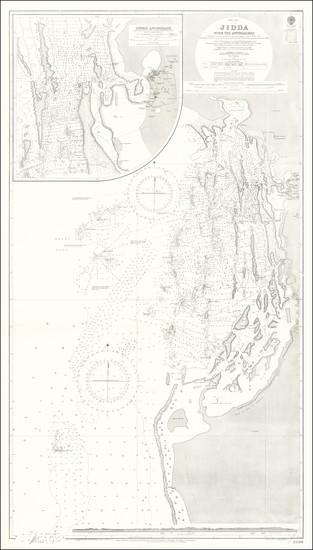 38-Arabian Peninsula Map By British Admiralty