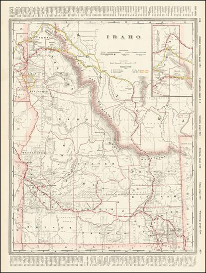 80-Idaho Map By George F. Cram
