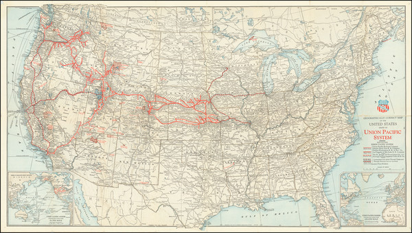 3-United States Map By Rand McNally & Company / Union Pacific Railroad Company