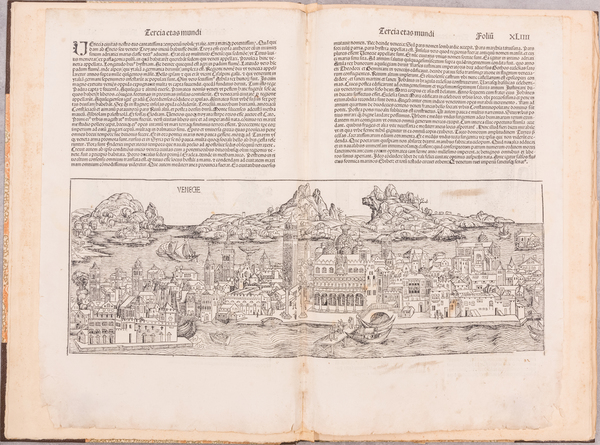 27-Venice and Rare Books Map By John Henry Nash