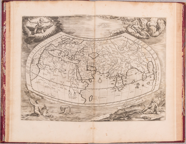 56-Atlases Map By  Gerard Mercator / Claudius Ptolemy