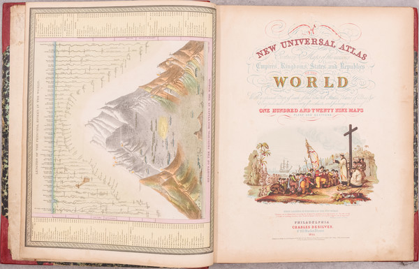 100-Atlases Map By Samuel Augustus Mitchell / Charles Desilver
