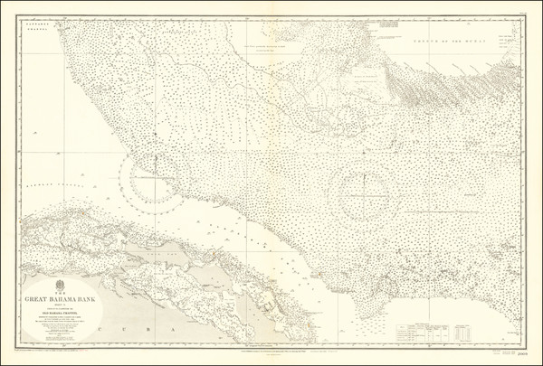 38-Cuba and Bahamas Map By British Admiralty