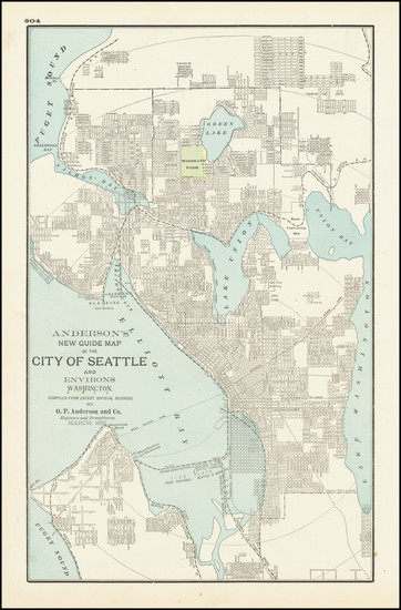 42-Washington Map By George F. Cram
