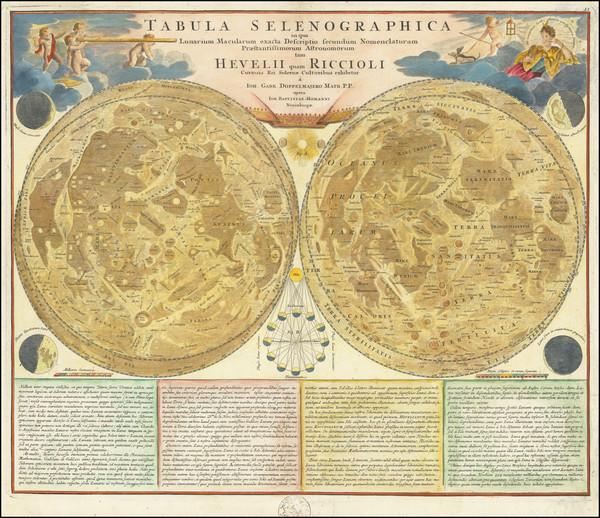 35-Celestial Maps Map By Johann Baptist Homann