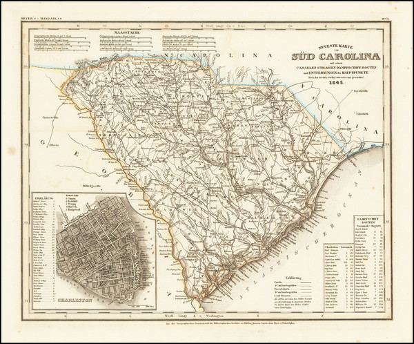 30-South Carolina Map By Joseph Meyer  &  Carl Radefeld