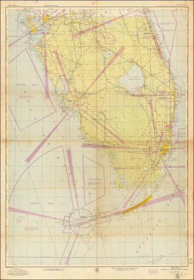 90-Florida and World War II Map By U.S. Coast & Geodetic Survey