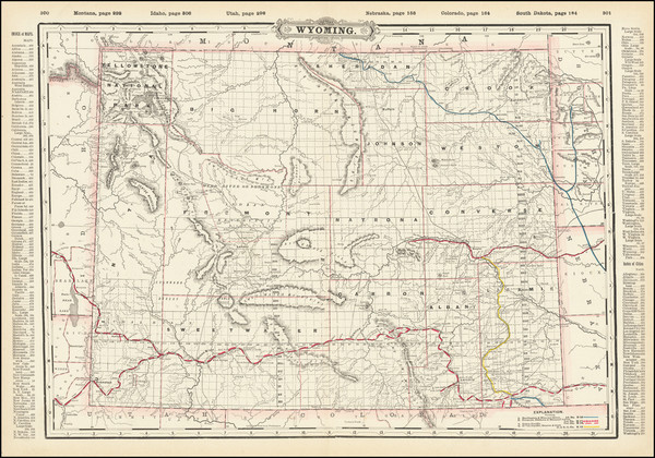 15-Wyoming Map By George F. Cram