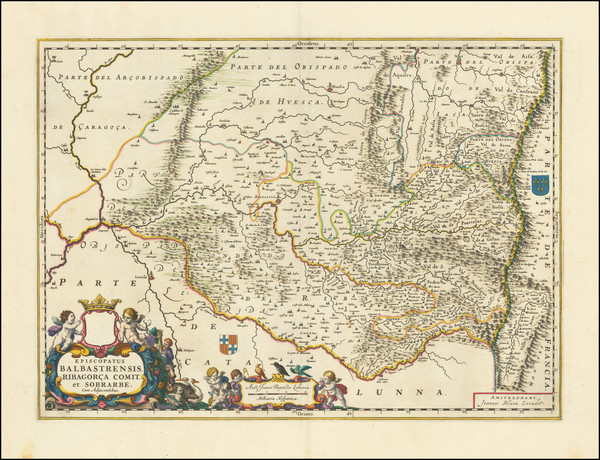 40-Spain Map By Johannes Blaeu