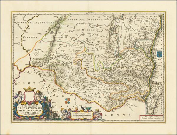 52-Spain Map By Johannes Blaeu