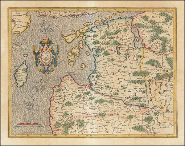 14-Baltic Countries Map By  Gerard Mercator