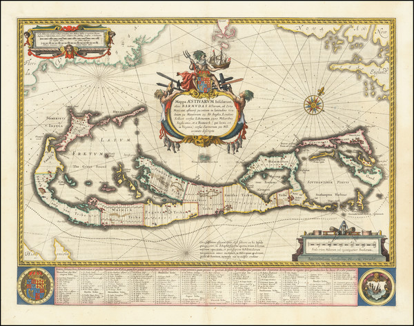 25-Bermuda Map By Willem Janszoon Blaeu