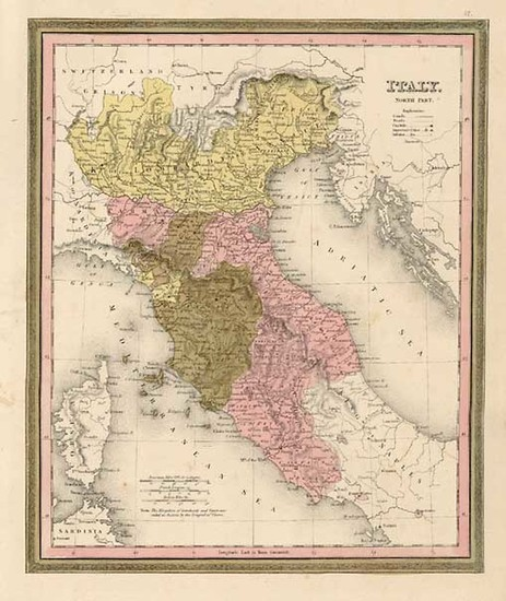 59-Europe and Italy Map By Henry Schenk Tanner