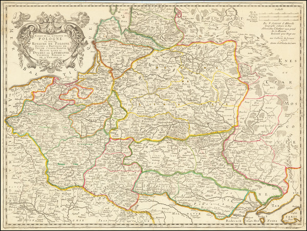 78-Poland and Baltic Countries Map By Nicolas Sanson