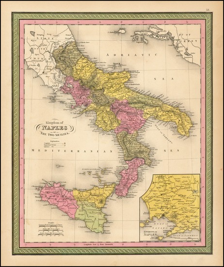 100-Italy and Balearic Islands Map By Henry Schenk Tanner