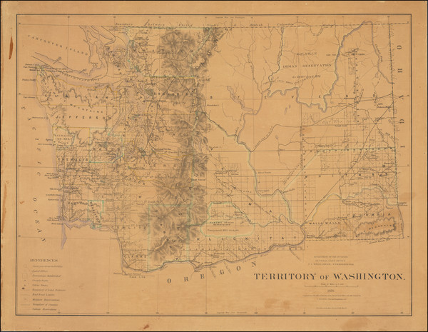 64-Washington Map By General Land Office
