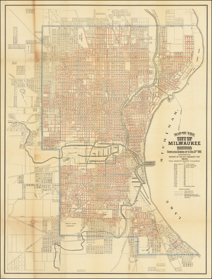 19-Wisconsin Map By Wilmanns Bros Litho.