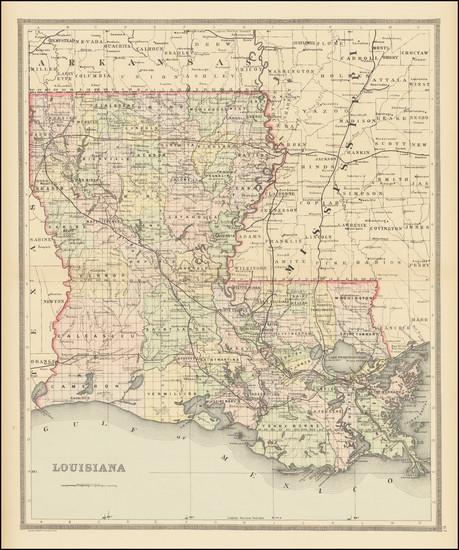 99-Louisiana Map By William Bradley