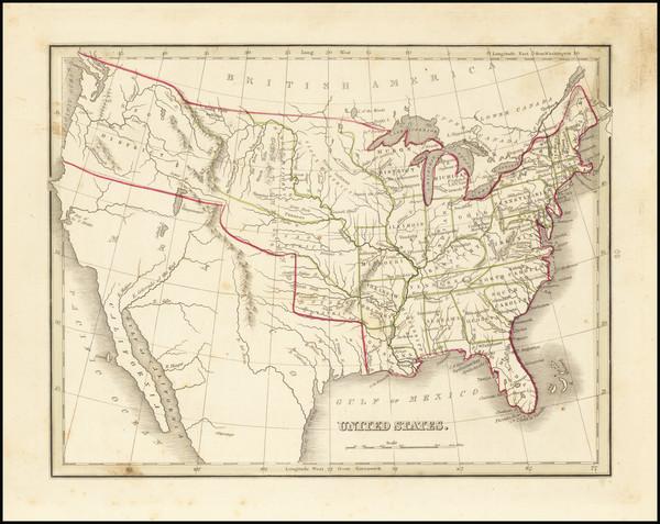 19-United States Map By Thomas Gamaliel Bradford