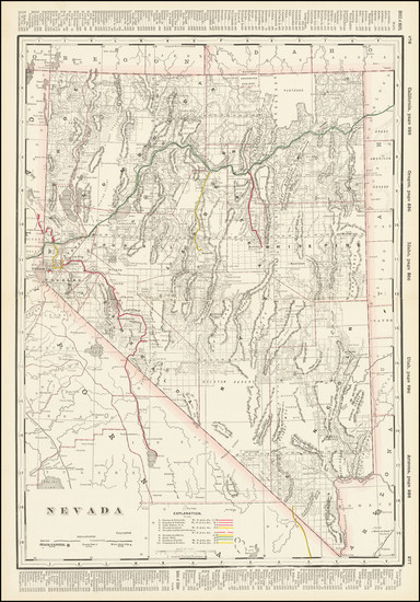 94-Nevada Map By George F. Cram