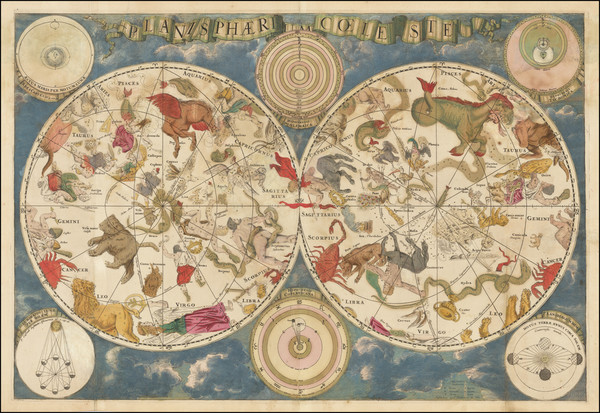 21-Celestial Maps Map By Frederick De Wit